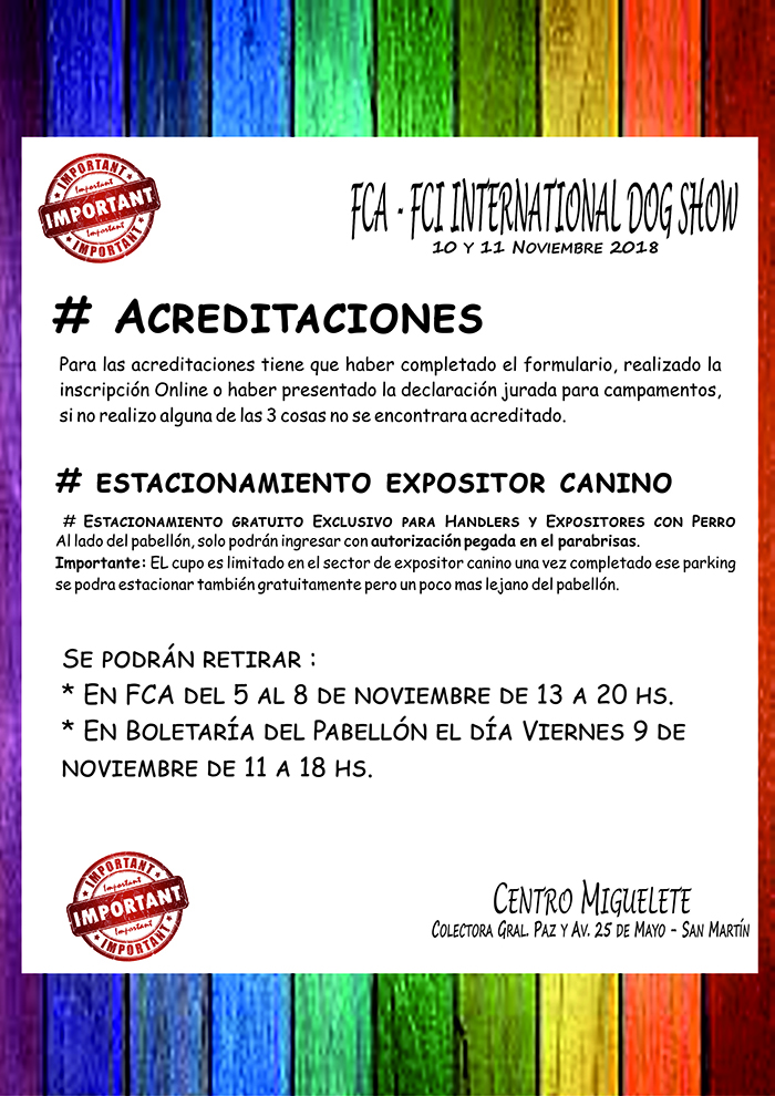 EXPO NOV Entrega de acreditaciones